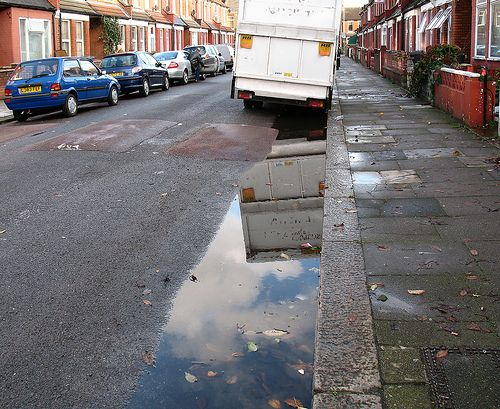 The council is responsible for clearing blocked road gullies